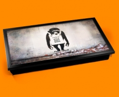 Personalised Banksy Chimp Custom Laptop Tray