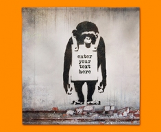 Banksy Chimp Custom Napkins (Set of 4)