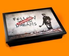 Banksy Dreams Cancelled Cushion Lap Tray