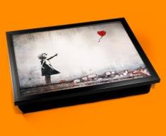 Banksy Heart Balloon Cushion Lap Tray