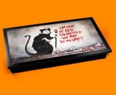 Banksy Out of Bed Rat Laptop Tray