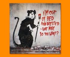 Banksy Out of Bed Rat Napkins (Set of 4)