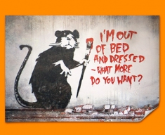 Banksy Out of Bed Rat Poster