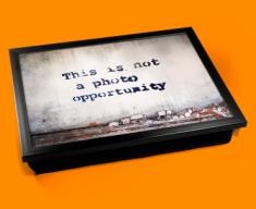 Banksy Photo Opportunity Cushion Lap Tray