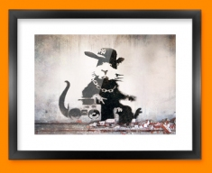 Banksy Rap Rat Framed Print