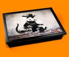Banksy Rap Rat Cushion Cushion Lap Tray