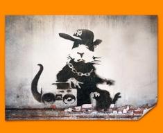 Banksy Rap Rat Poster