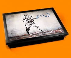 Banksy Soldier Music Cushion Lap Tray