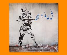 Banksy Soldier Napkins (Set of 4)