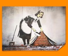 Banksy Street Maid Poster