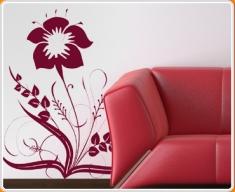 Baroque Flower 3 Wall Sticker