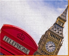 Big Ben Phone Box Canvas Art Print