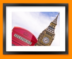 Big Ben Phone Box Framed Print