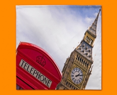 Big Ben Telephone Box Napkins (Set of 4)