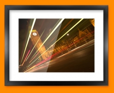 Big Ben Traffic Framed Print