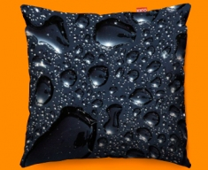 Black Rain Funky Sofa Cushion 45x45cm
