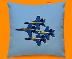 Blue Angels Plane Sofa Cushion