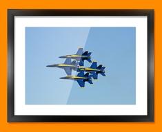 Blue Angels Plane Framed Print