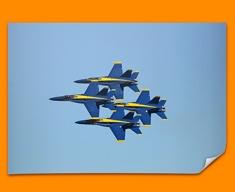 Blue Angels Plane Poster