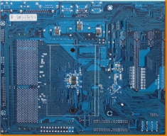 Blue Circuitboard Canvas Art Print