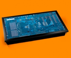 Blue Circuitboard Laptop Lap Tray