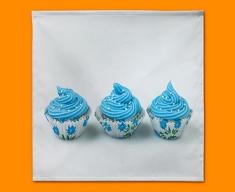 Blue Cupcakes Napkins (Set of 4)