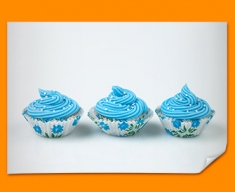 Blue Cupcakes Poster