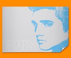 Blue Elvis Poster
