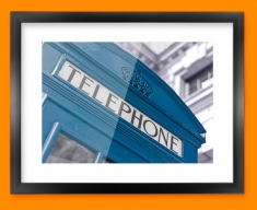 Blue Telephone Box Framed Print