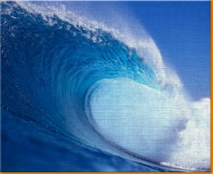 Blue Wave Canvas Art Print