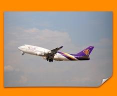 Boeing 747 Plane Poster
