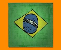 Brazil Flag Napkins (Set of 4)