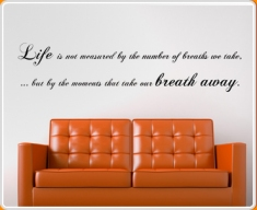 Breath Away Quote Wall Sticker