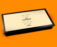 Bring the Coffee Typography Laptop Tray