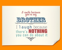 Brother Typography Poster