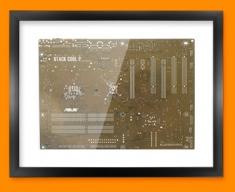 Brown Circuitboard Framed Print