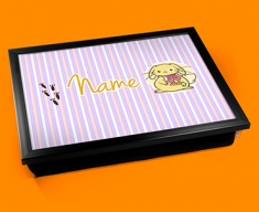 Bunny Personalised Childrens Name Cushion Lap Tray