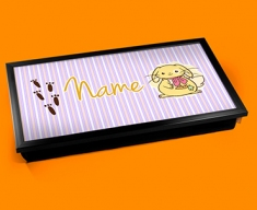 Bunny Personalised Childrens Name Cushioned Laptop Lap Tray