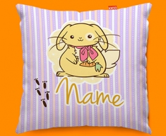 Bunny Personalised Childrens Name Sofa Cushion