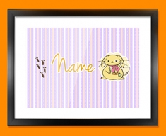 Bunny Personalised Childrens Name Framed Print