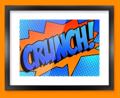 CRUNCH Comic SFX Framed Print