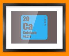 Calcium Periodic Element Framed Print