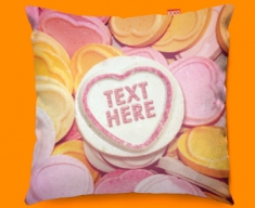 Candy Sweet Hearts Personalised Funky Sofa Cushion 45x45cm