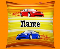Car Personalised Childrens Name Sofa Cushion