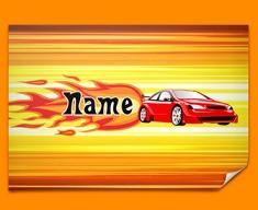 Car Personalised Childrens Name Poster