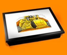 Caterpiller Bulldozer Cushion Lap Tray