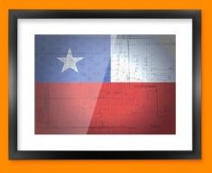 Chile Flag Framed Print