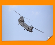 Chinook Boeing Plane Poster