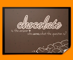 Chocolate Typography Poster