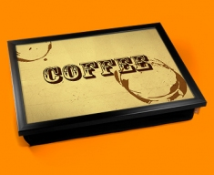 Coffee Rings Typography Lap Tray